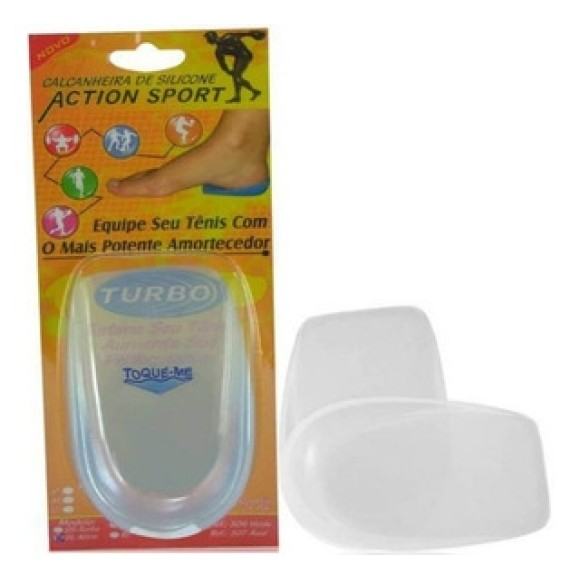 Calcanheira de Silicone Lisa 100% Silicone - Action Sport – Ortho Pauher – Cod. 304