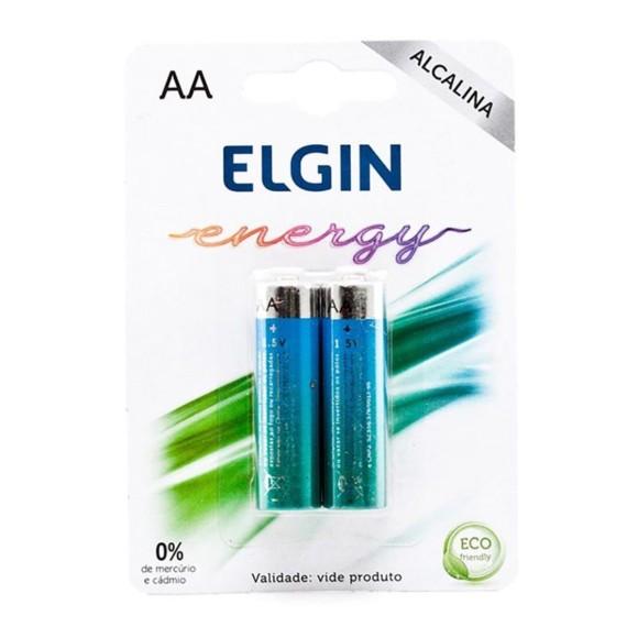 Pilha Alcalina AA -  Elgin