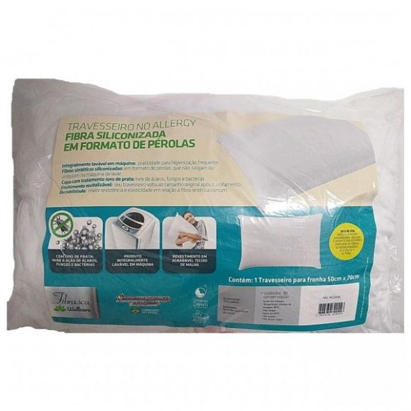 Travesseiro No Allergy Fibra - Fibrasca