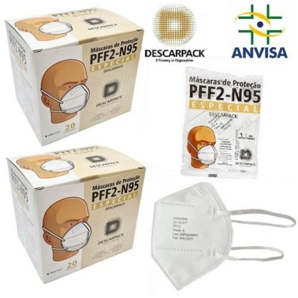 Máscara Especial  N95 PFF2 - Descarpack Branca Unidade
