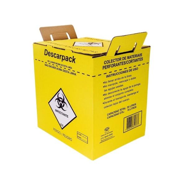 Caixa Coletor Materiais Perfurocortante Descarpack